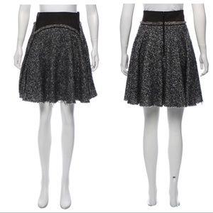 ZAC POSEN Knee-Length Boucle Skirt